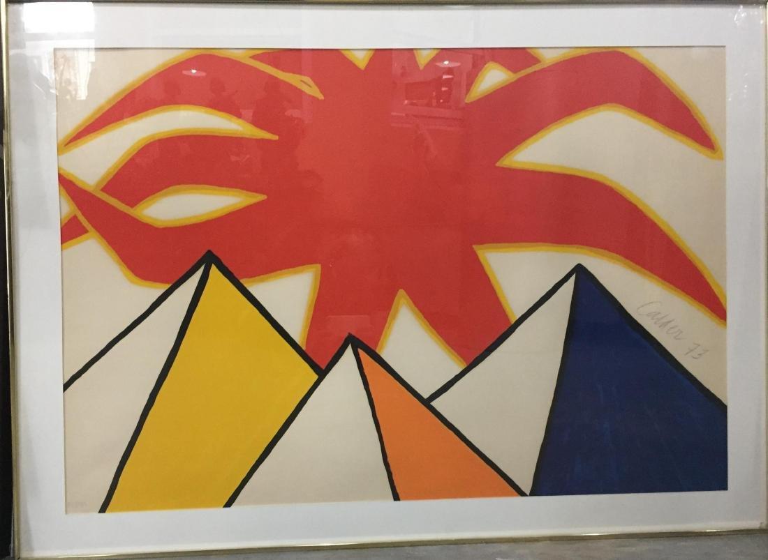 Alexander Calder Lithograph Sun and Pyramids Pencil