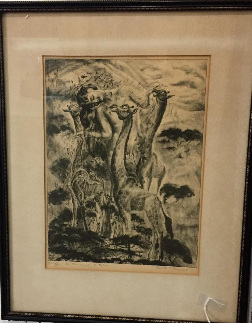 Mordi Gassner American 1899-1995 Giraffes the
