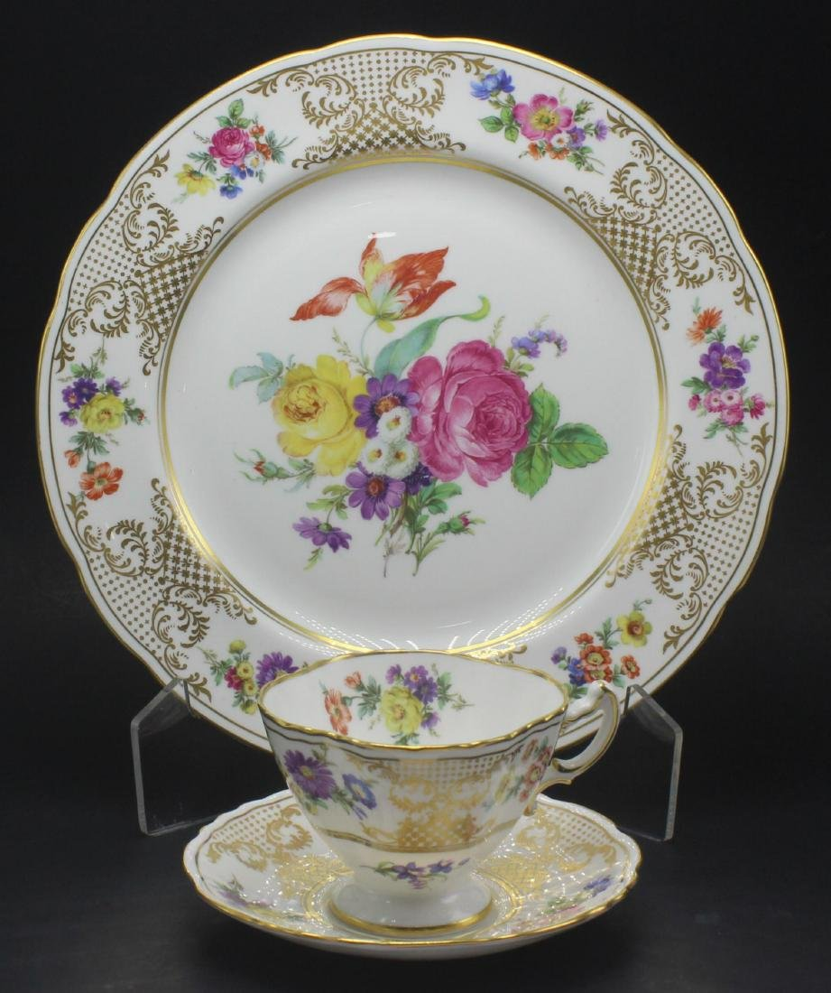 Llammersley and Co. Bone China floral service Lot of 60 - 2