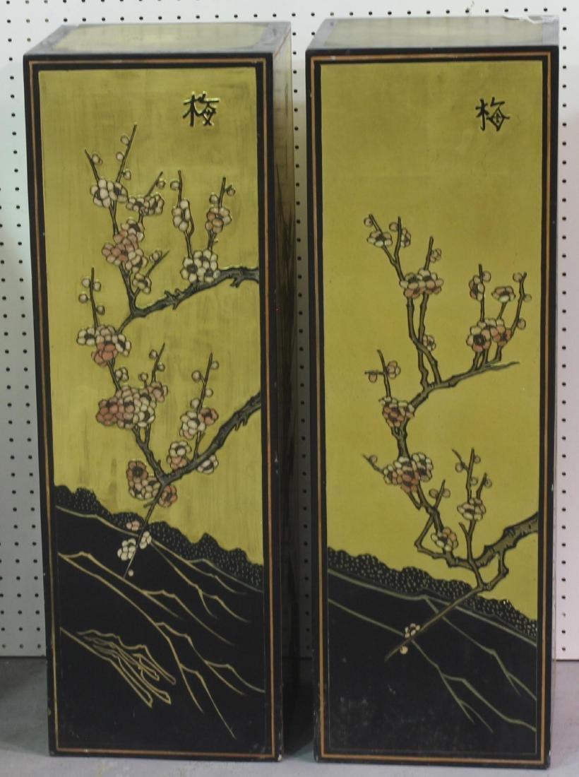 Pair of Chinese coromandel pedestals - 3