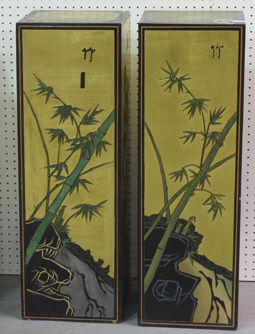 Pair of Chinese coromandel pedestals - 4