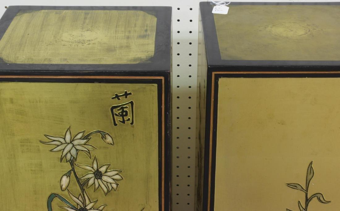 Pair of Chinese coromandel pedestals - 5
