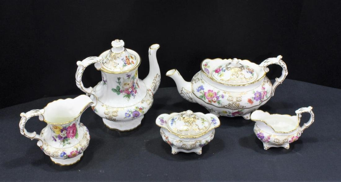 Llammersley and Co. Bone China Old Meissen Gold and