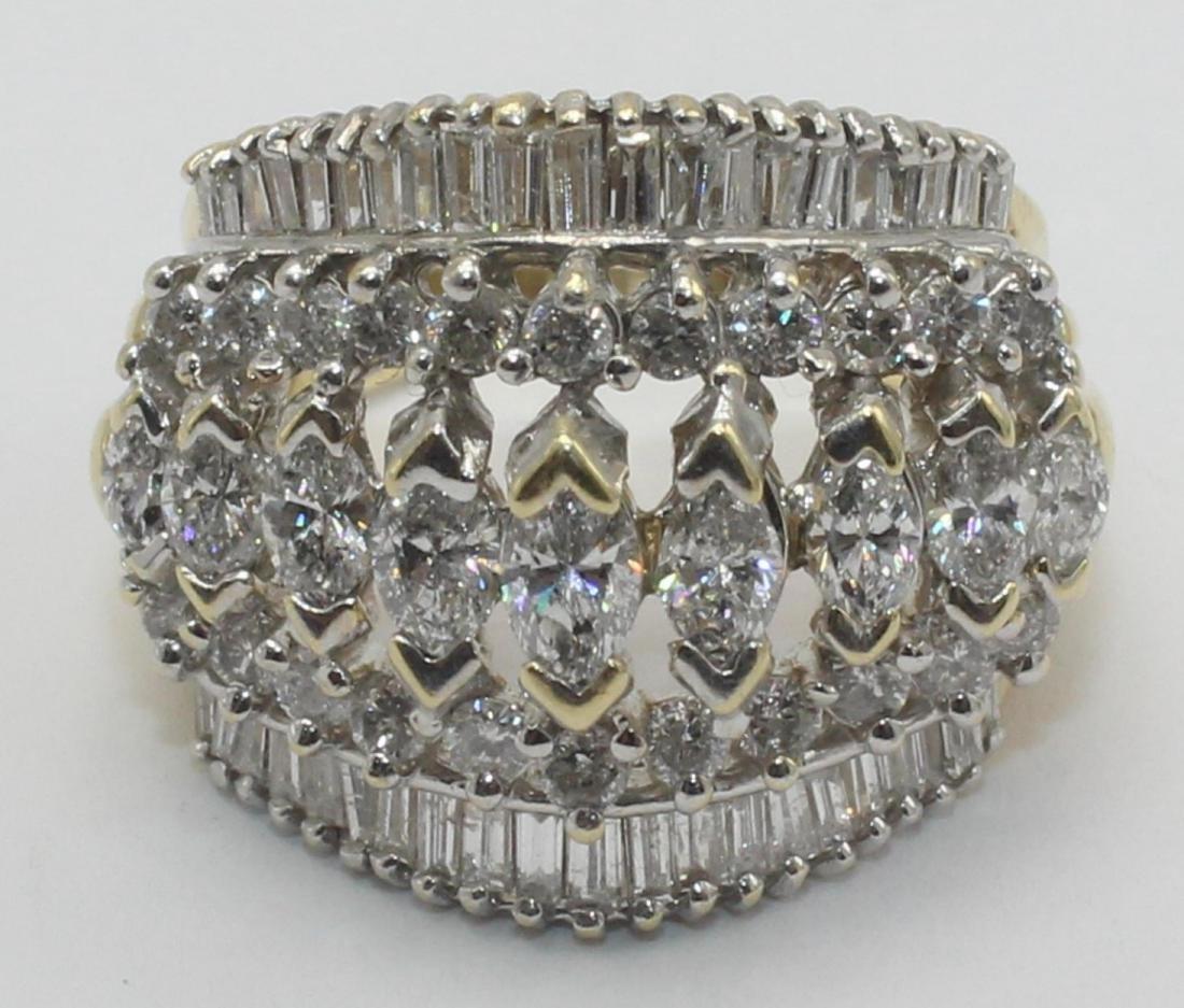14k YG Approx 6 ct diamond ring