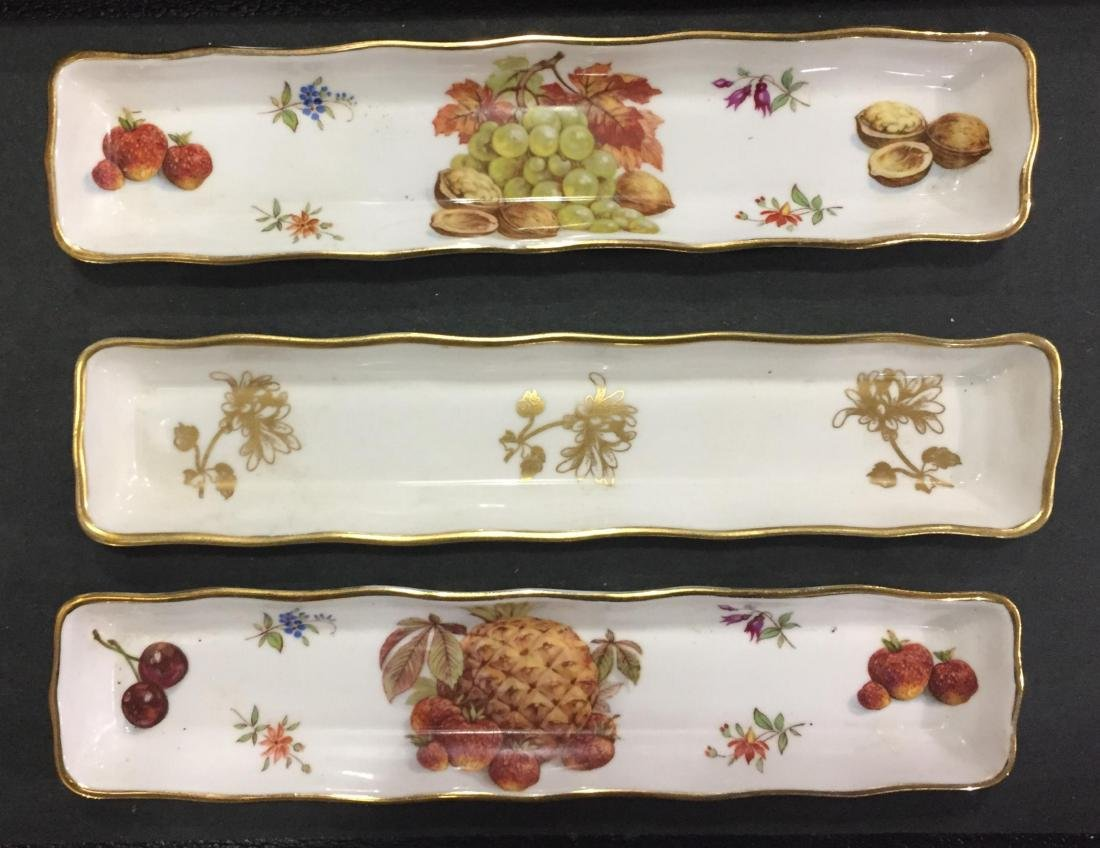 Hammersley and Co. Bone China Flower and Fruit Pen Tray