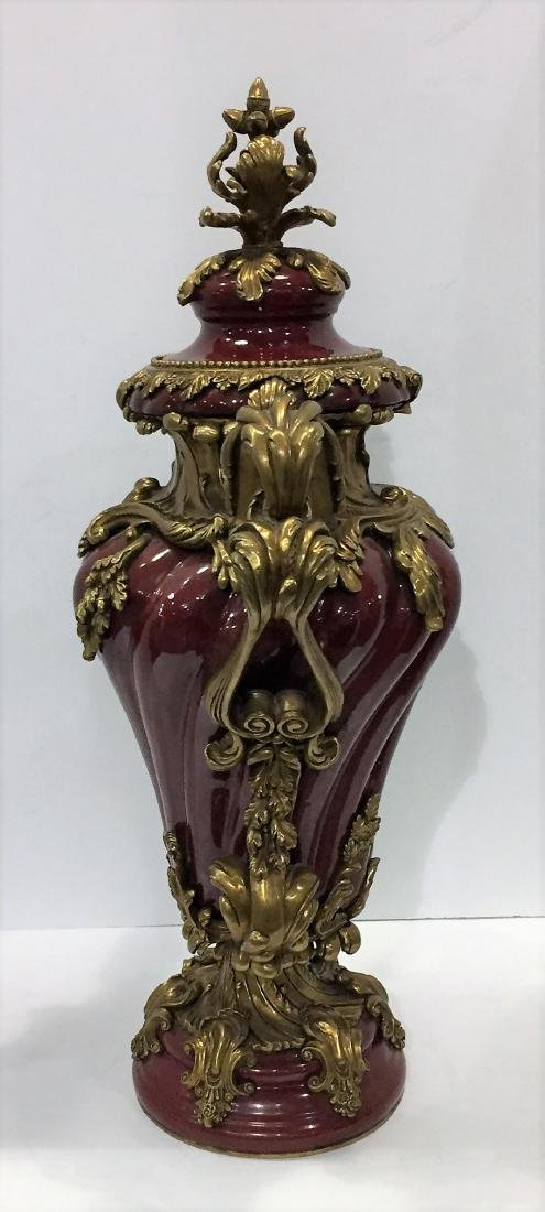 European Style Porcelain and Bronze Mounted Two Handled - 3