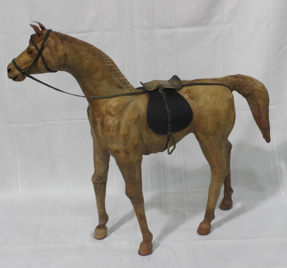 Leather Handmade Covered Model Horse