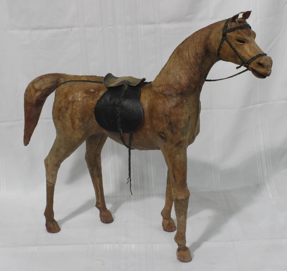 Leather Handmade Covered Model Horse - 2
