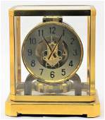 Lecoultre atmos clock brass and glass