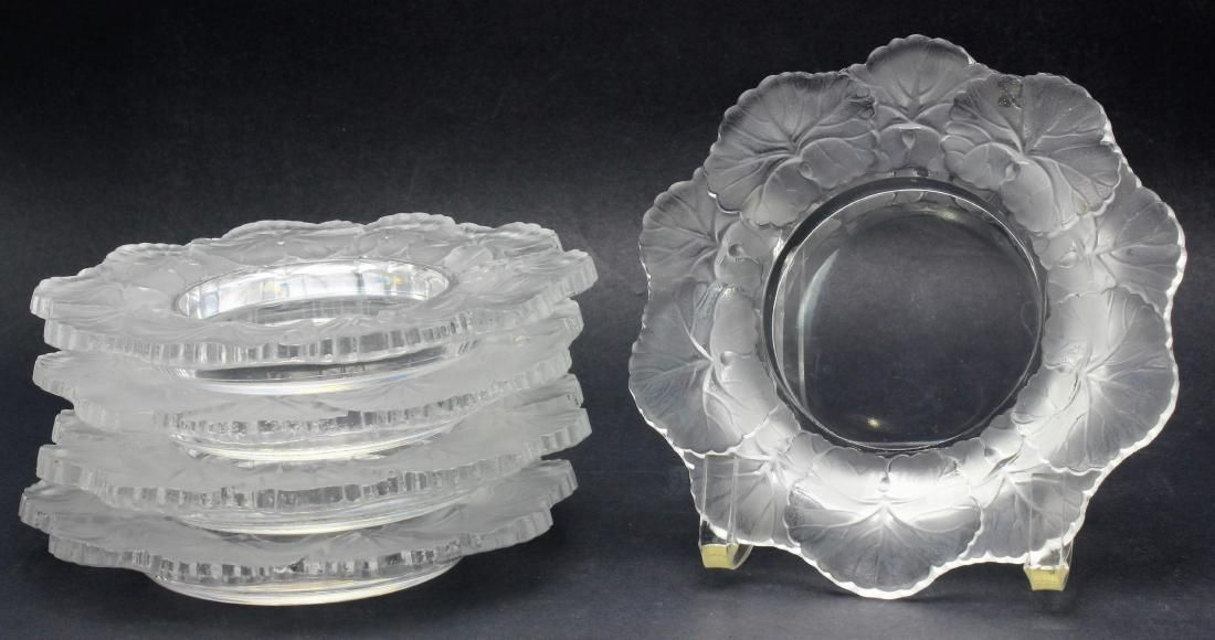 5 pcs Lalique France Crystal Honfleur Candy Bowls