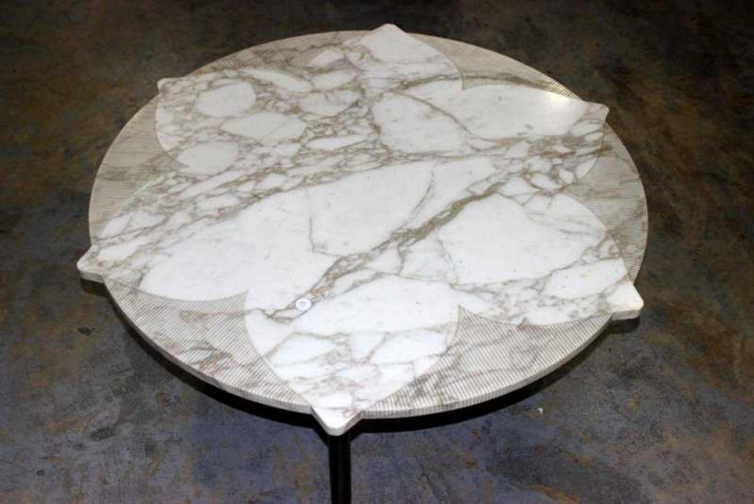 Mid Century Marble Cocktail Table