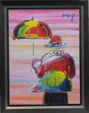 Peter Max Original Acrylic on Wraparound Canvas titled