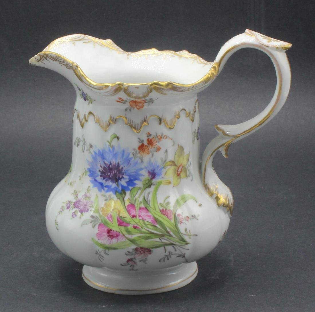 Meissen hand painted porcelain flower decorated pitcher - 2