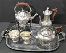 Antique English Silver Plate Tea Set