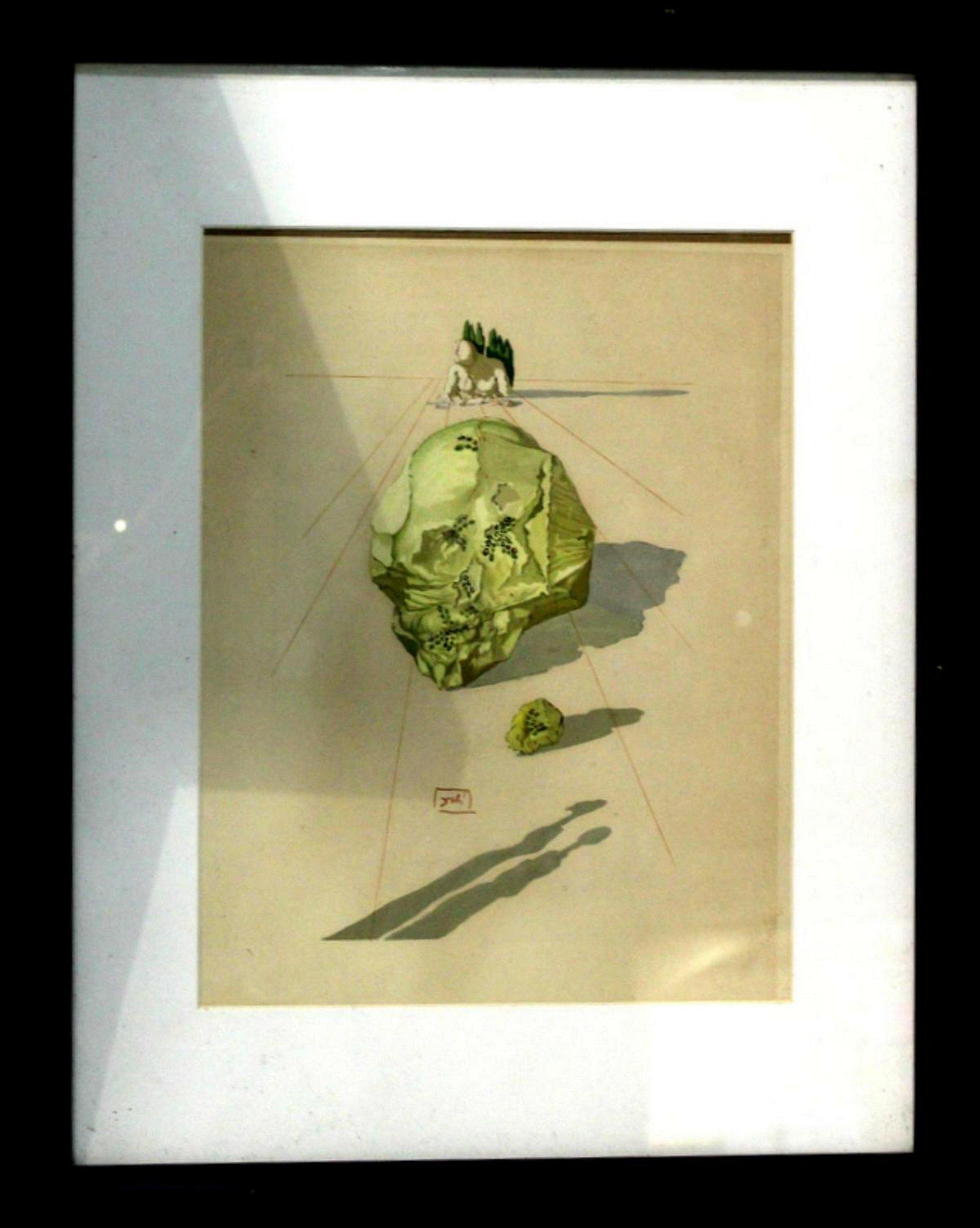Salavador Dali 1960 Divine Comedy Inferno #23 Color