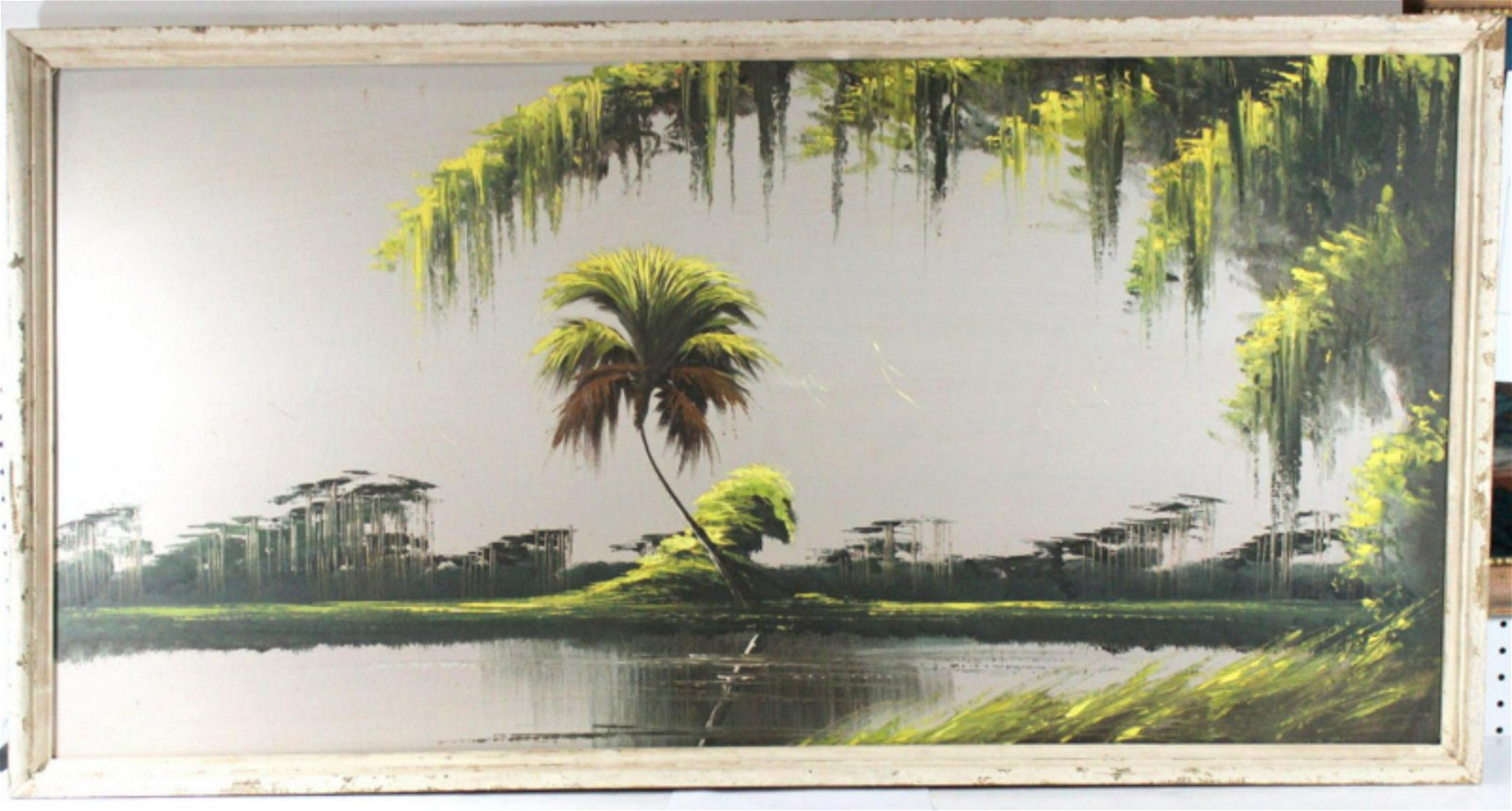 Signed James Gibson Florida Highwaymen Oil Painting on