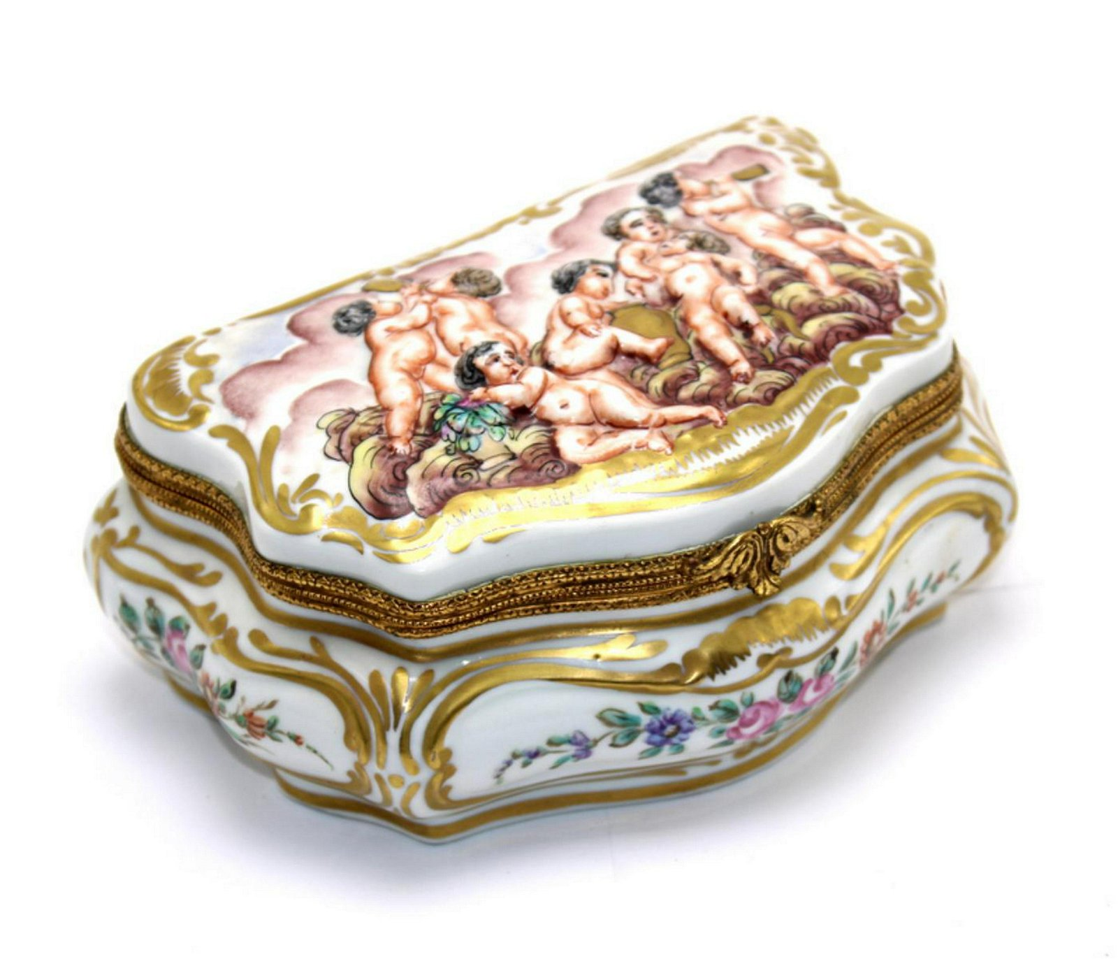 Antique Capodimonte Porcelain Box