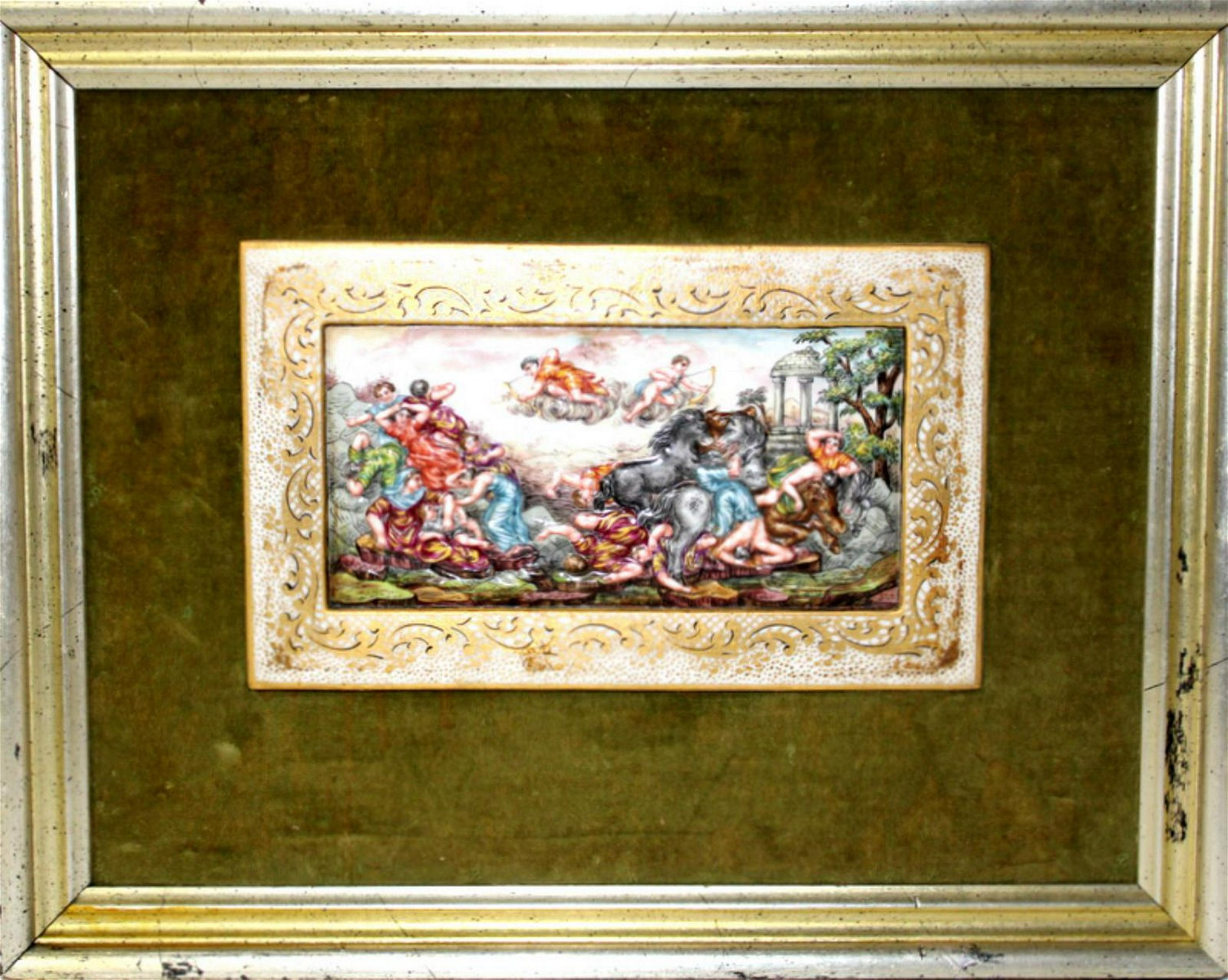 Antique Capodimonte Porcelain Plaque