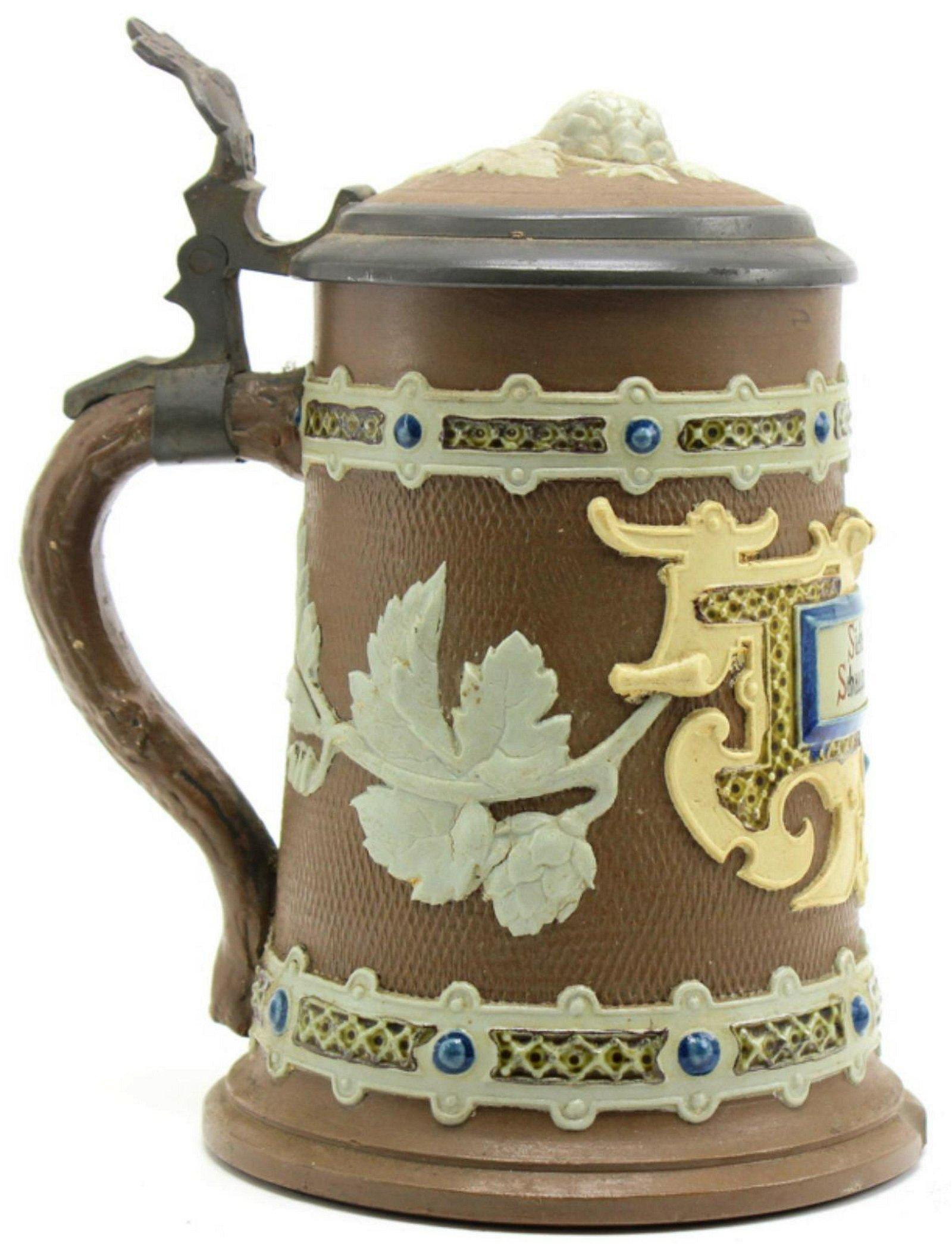 Mettlach Germany 1745 Ges Gesch Beer Stein