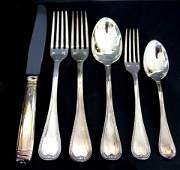 Set of 65 French Christofle Silver Plate Flatware