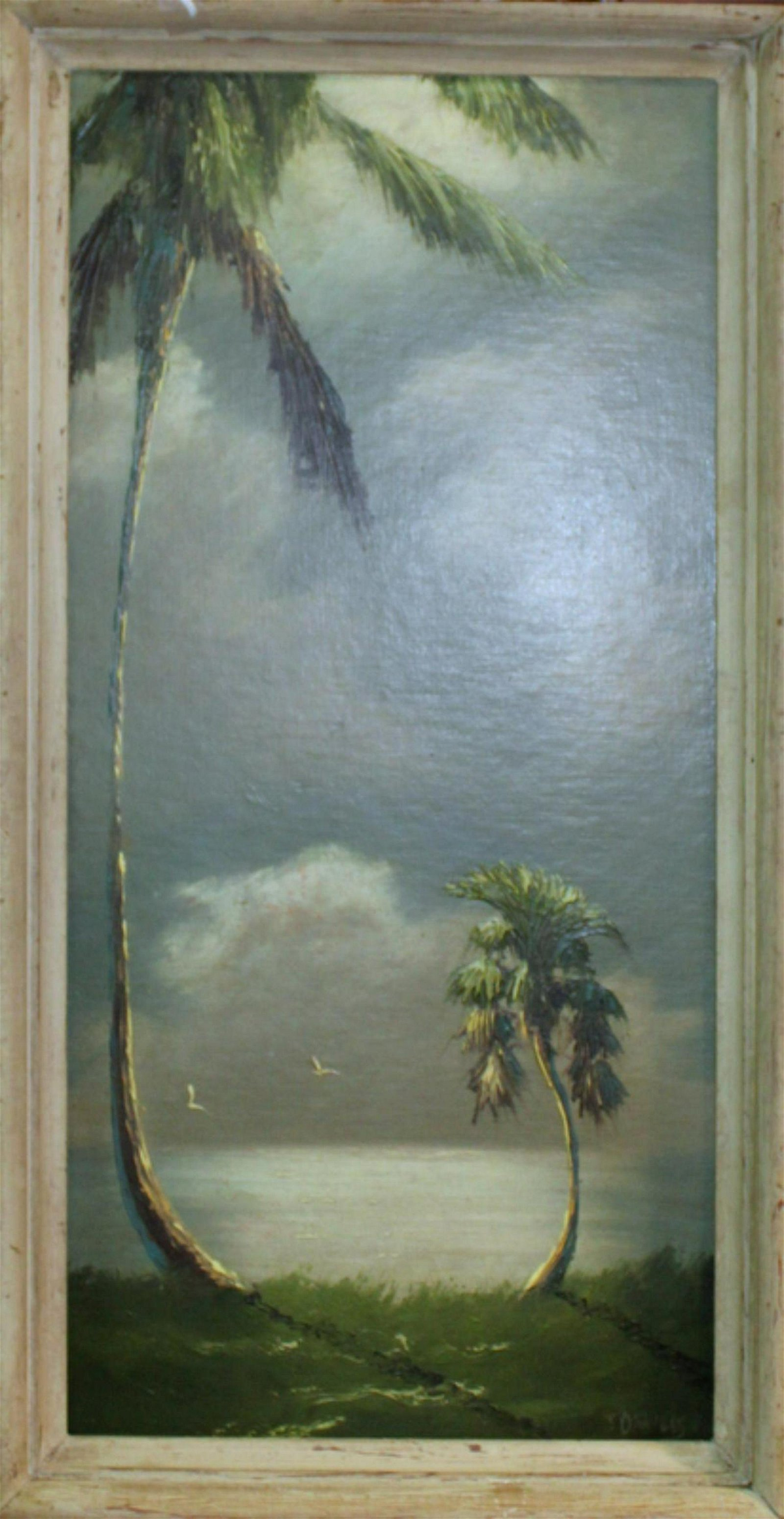 Johnny Daniels Highwaymen Palm River Oil Painting