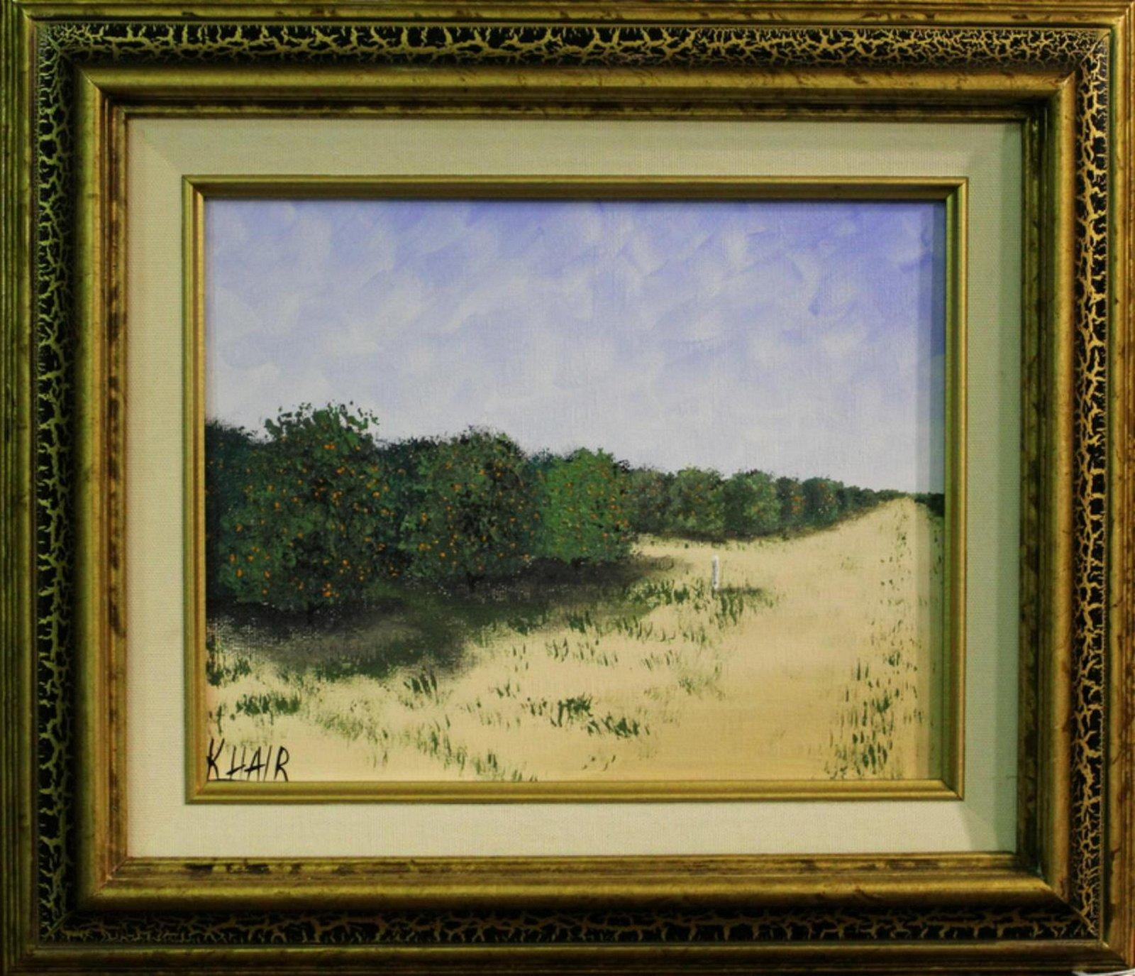 Signed Kelvin Hair Florida Highwaymen Oil Painting