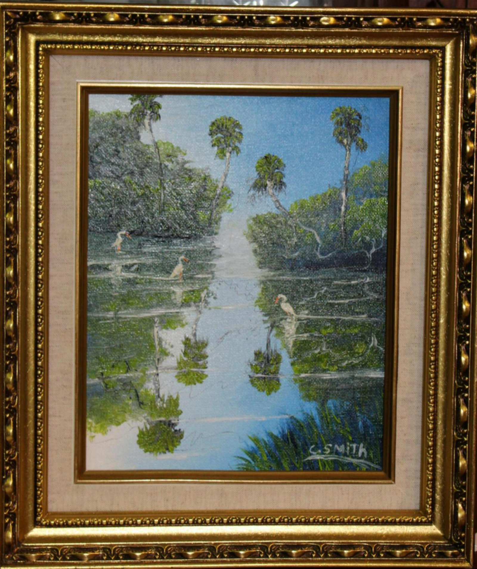Signed Cornell Smith Florida Highwaymen Oil Painting