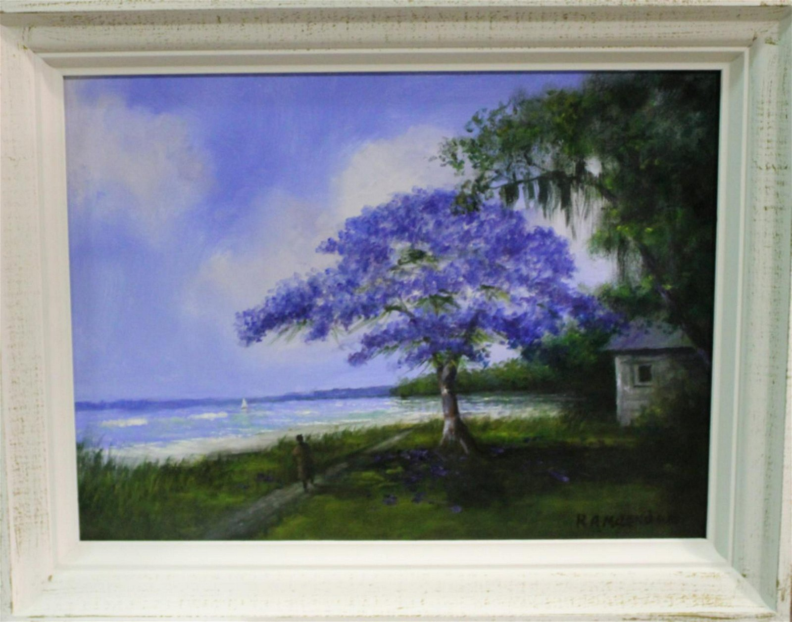 Signed Roy Mclendon Florida Highwaymen Oil Painting
