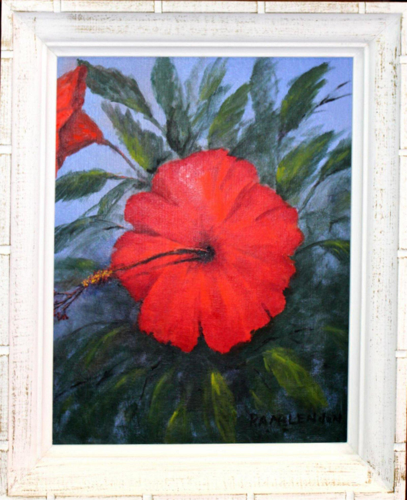 Signed Roy Mclendon Florida Highwaymen Oil Painting