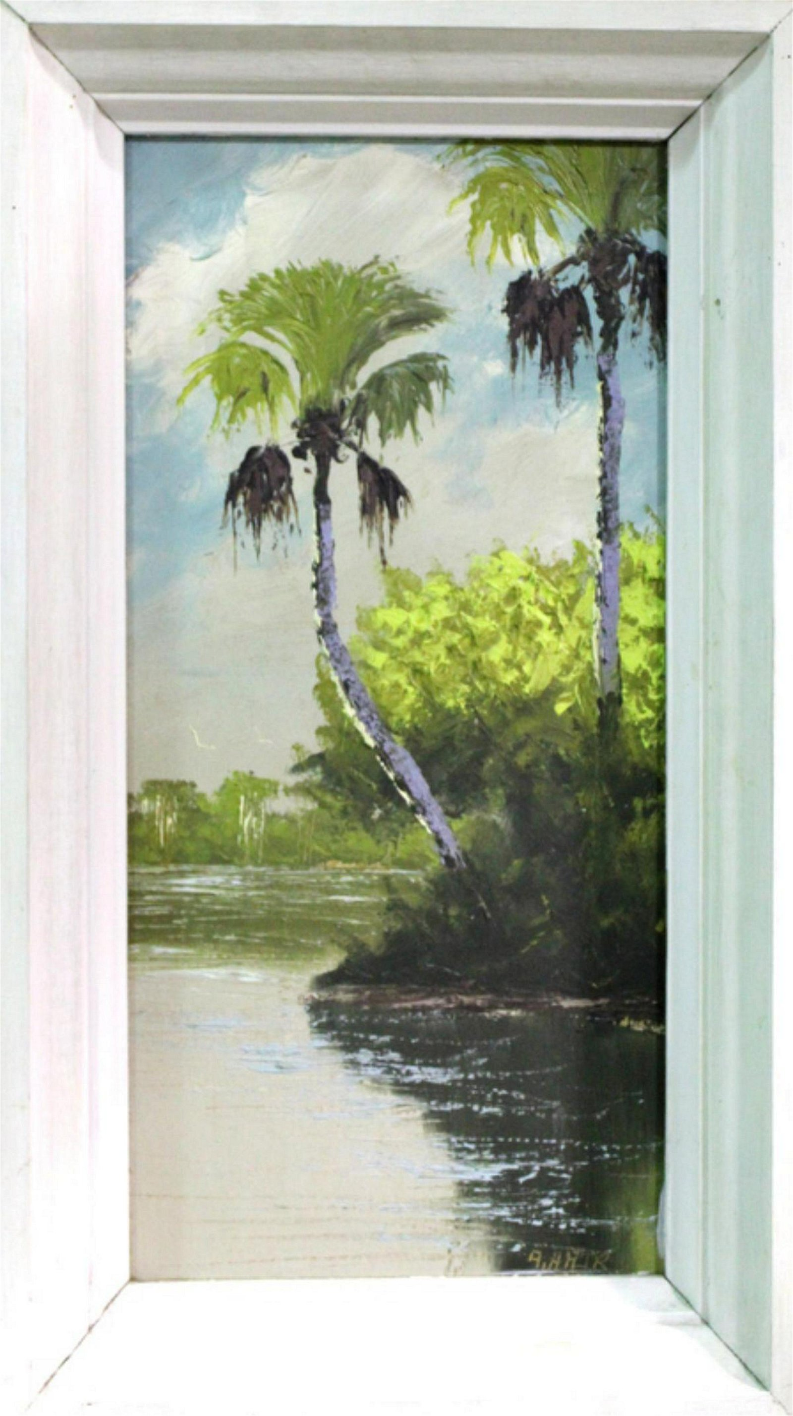 Signed Alfred Hair Florida Highwaymen Oil Painting