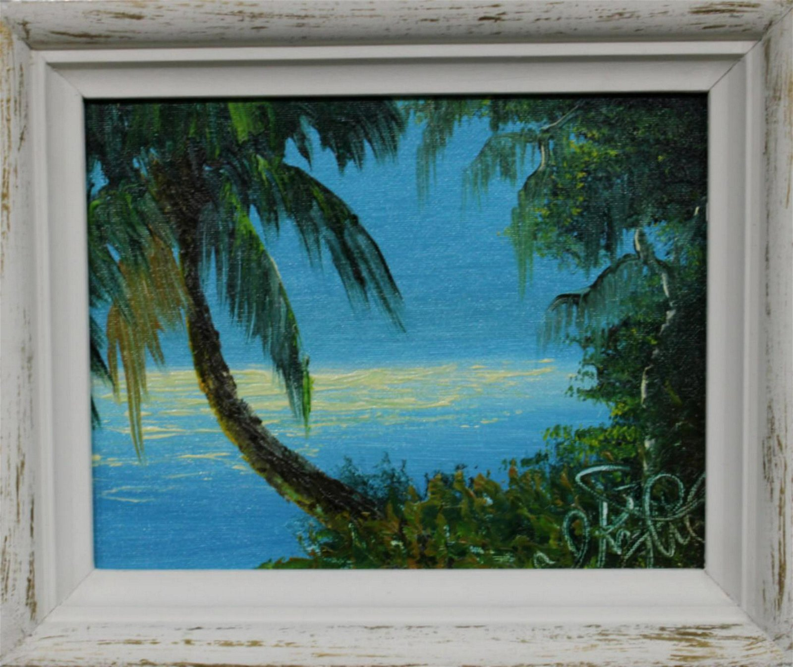 Signed Issac Knight Florida Highwaymen Oil Painting