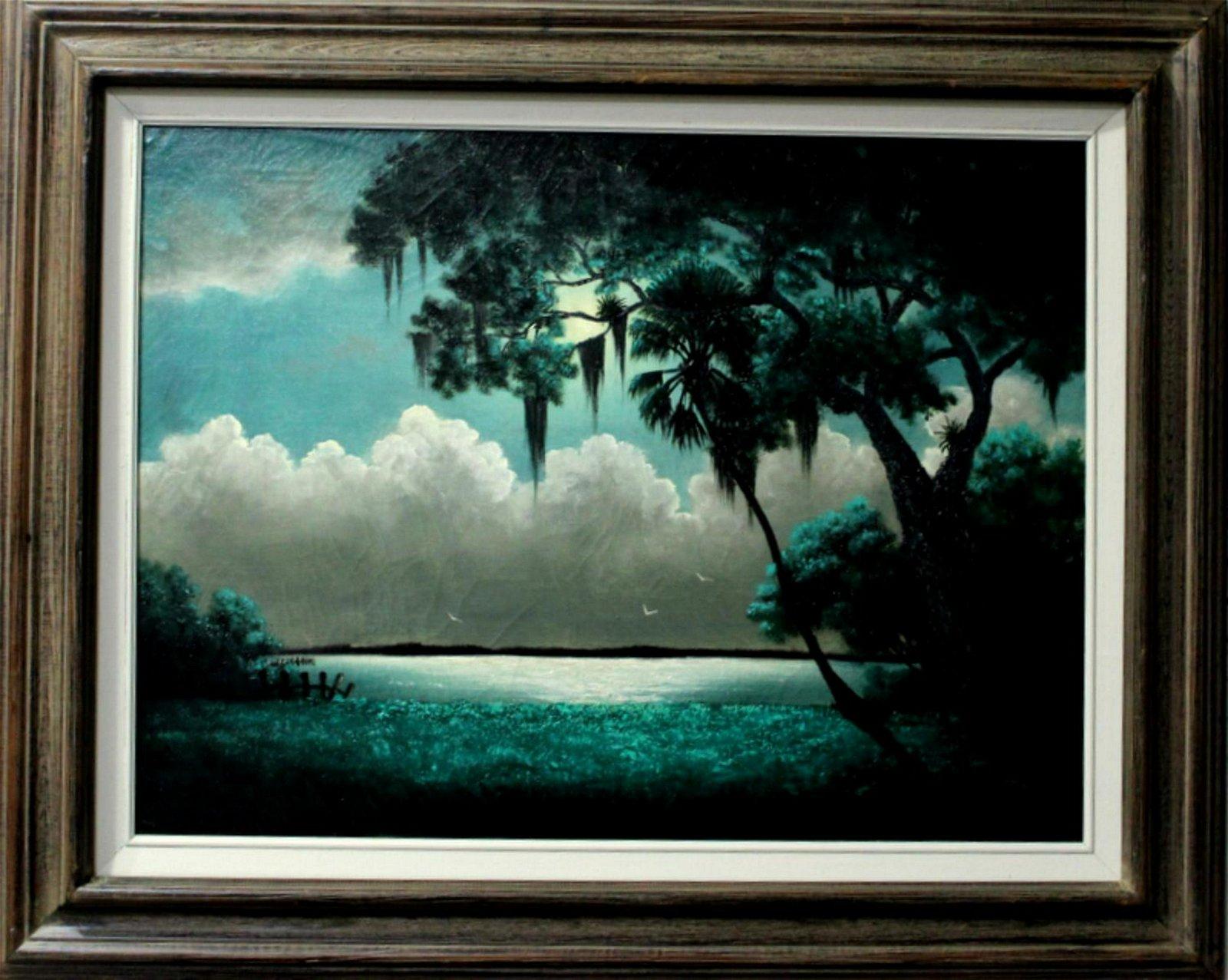Signed Ellis Buckner Florida Highwaymen Oil Painting