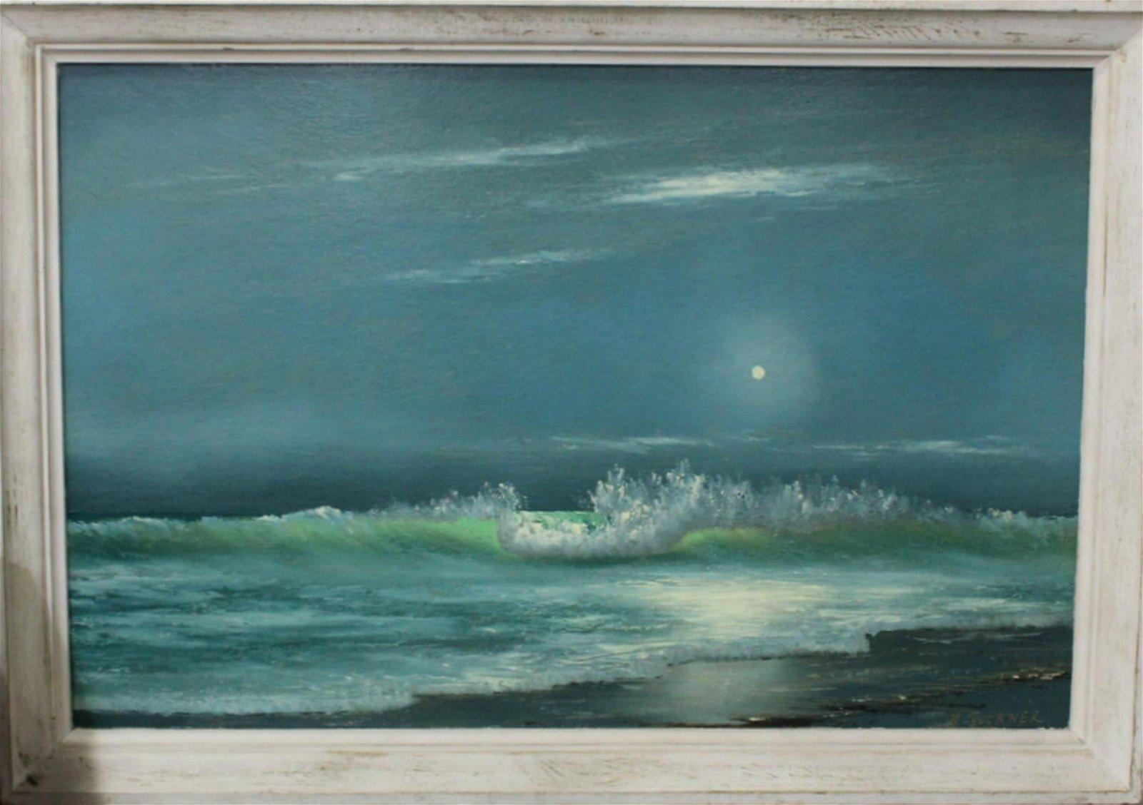 Signed George Buckner Florida Highwaymen Oil Painting