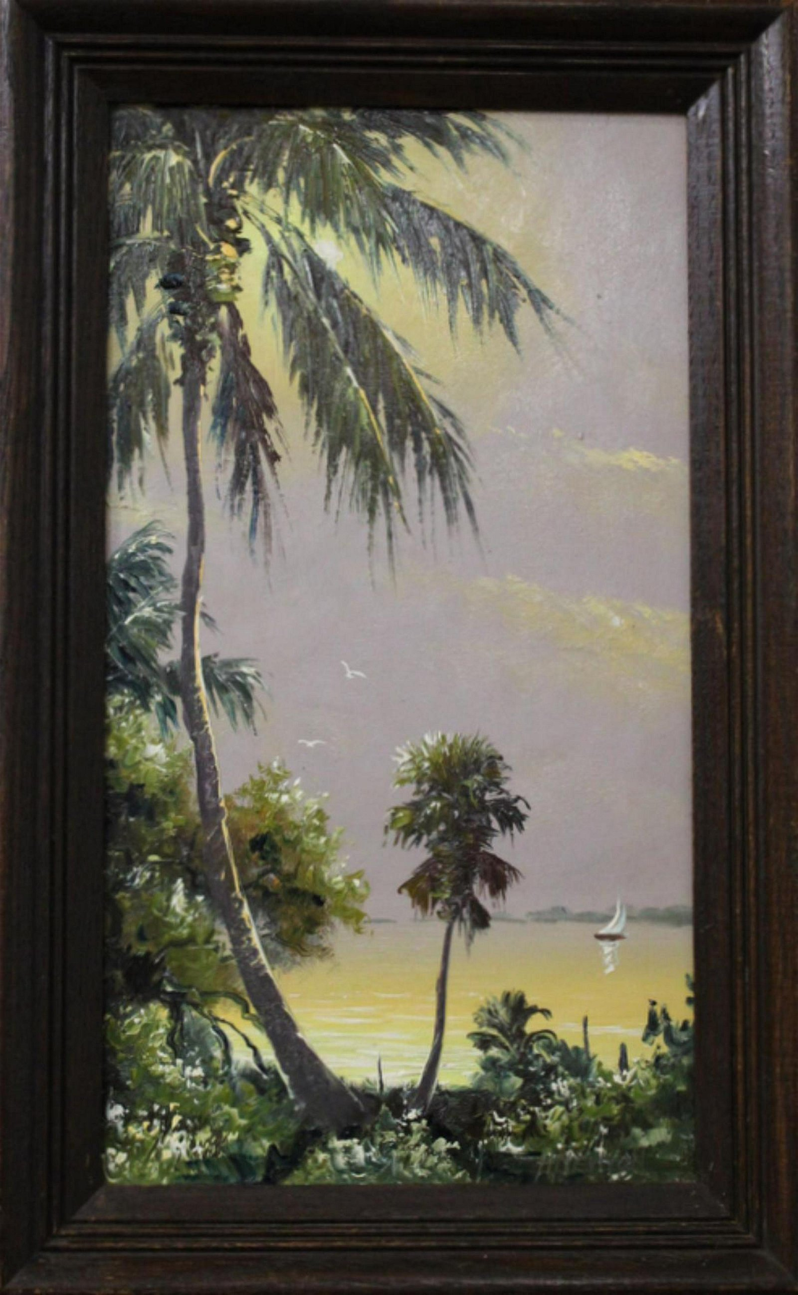 Signed Harold Newton Florida Highwaymen Oil Painting