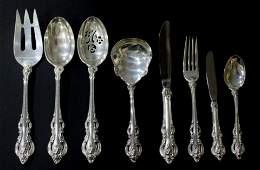 Set of 88 pcs Towle El Grandee Sterling Silver Flatware