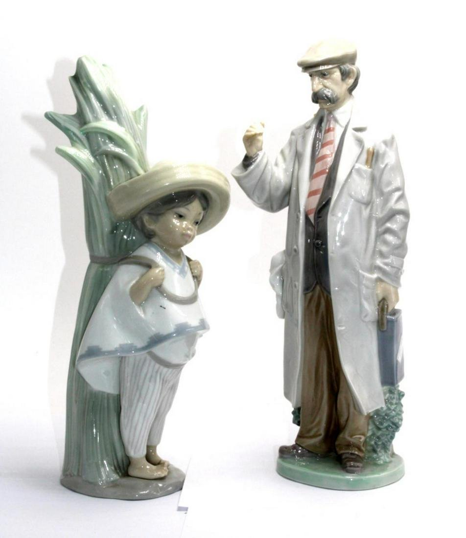 2 Pcs Lladro Porcelain Figurines