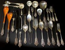 93 Pcs Wallace Grand Baroque Sterling Silver Flatware