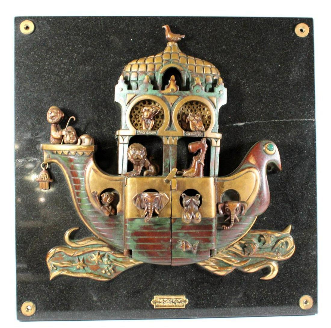 Frank Meisler Noah's Ark Plaque Sculpture