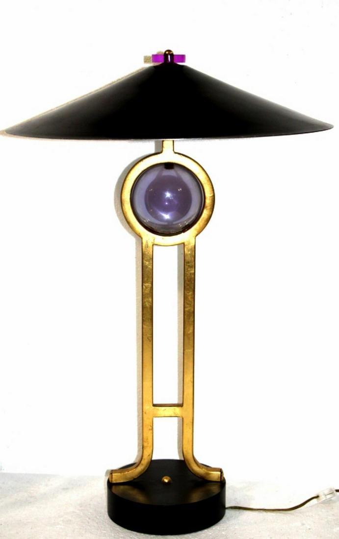 Mid Century Modern Inlaid Table Lamp