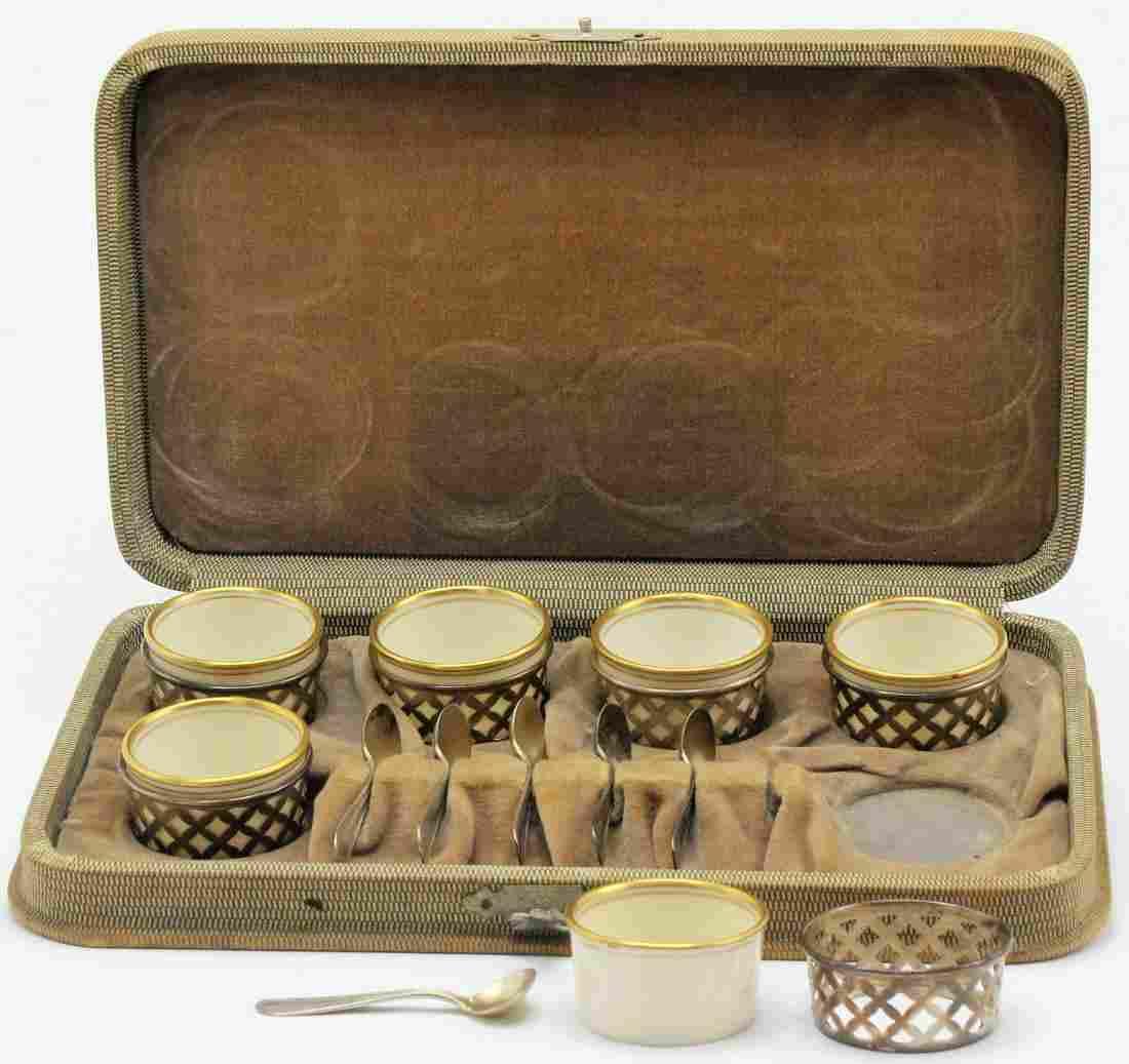 6 Pcs Sterling and Lenox Porcelain Service for 6