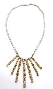 Estate 18kt W.G. Diamond Tennis Necklace