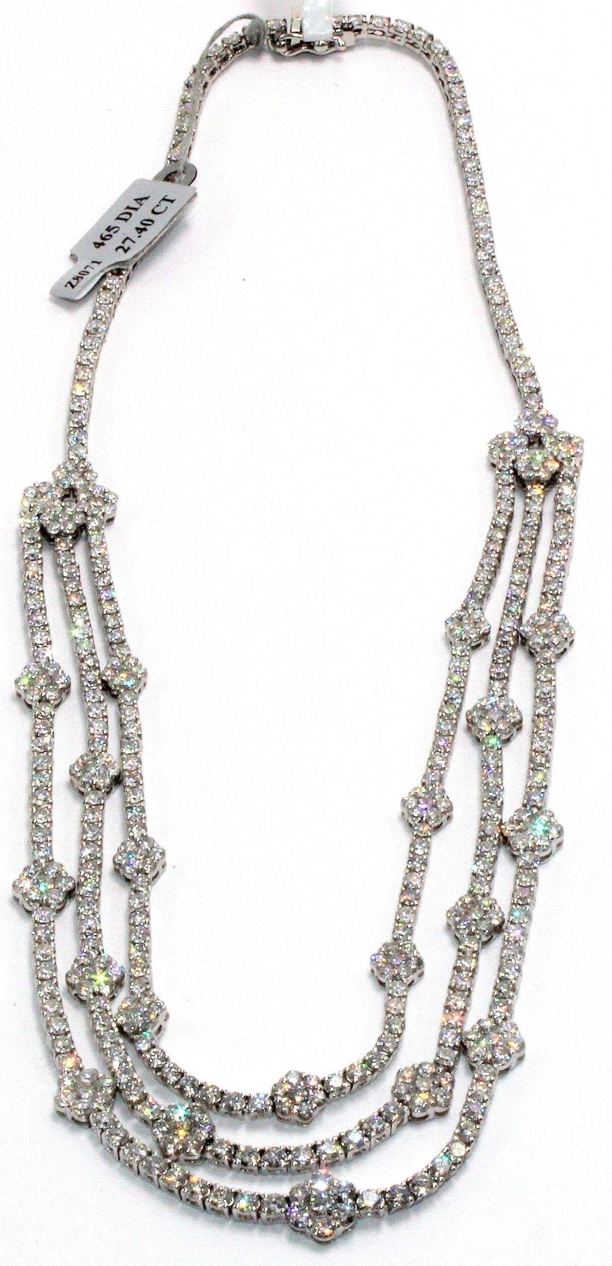 18kt WG and Diamond Necklace