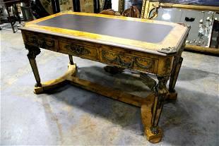 Louis Xv Style Bronze Mounted Empire Style Desk