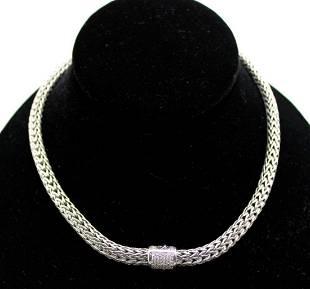 John Hardy Sterling Silver 18kt Gold and Diamond