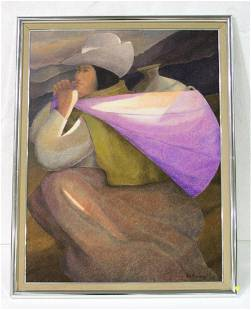 Signed Ernesto Gutierrez Oil on Canvas