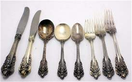 Wallace Grand Barroque Sterling Silver flatware Set of