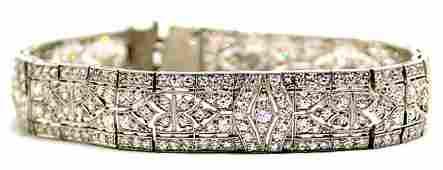 Tiffany and Co Platinum and Diamond Bracelet