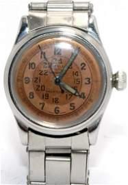 Rolex #3478 Circa 1942 Military Dial Two Tone Model