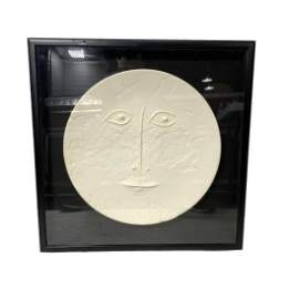 Pablo Picasso Visage De Face Madoura Ceramic Charger on
