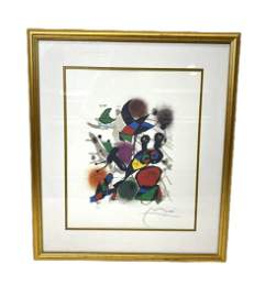 Signed Joan Miro Lithograph in Color